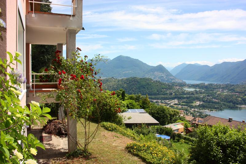 Vernate – Tessin Villa 5,5 Zimmer mit unverbaubarer Seesicht